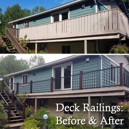 Deck Railing: Before & After