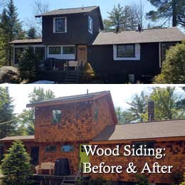 Wood Siding: Before & After