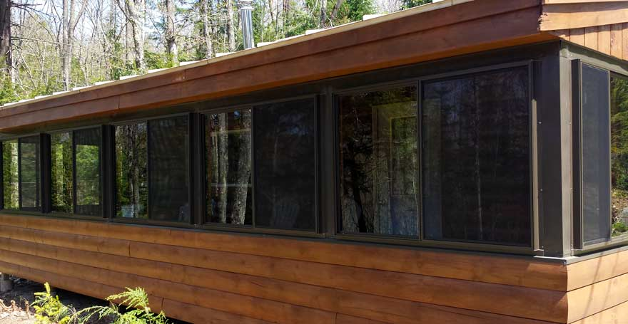Log Cabin Window Installation